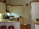 Bright fully equipped kitchen